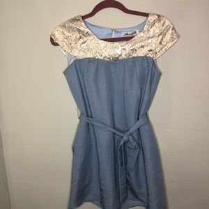 Blue and Gold Dress Size Small